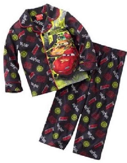 NWT-Disney- CARS FLANNEL Pajama PJ'S Sleepwear Set 2PCS