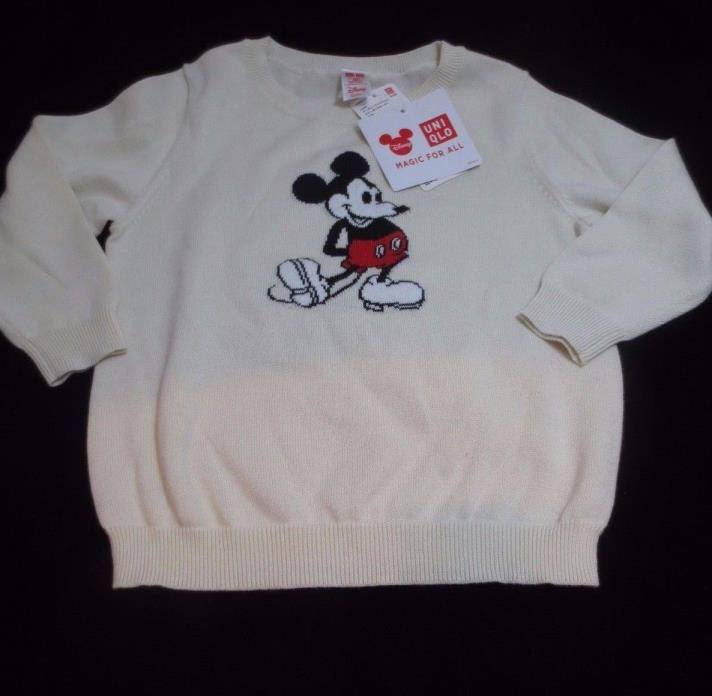 Disney boys toddler size 2T-3T Mickey Mouse 100% cotton sweater from Japan NWT