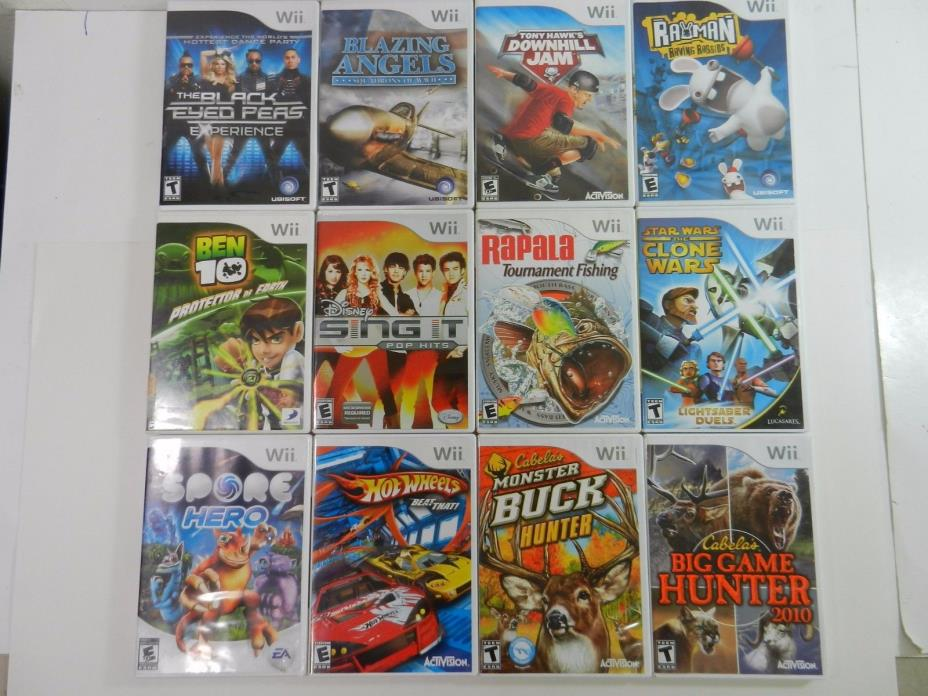 Wii Game Lot Of 19 Games Nintendo