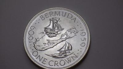 1609 - 1959 Bermuda Silver Crown Uncirculated Mint condition.