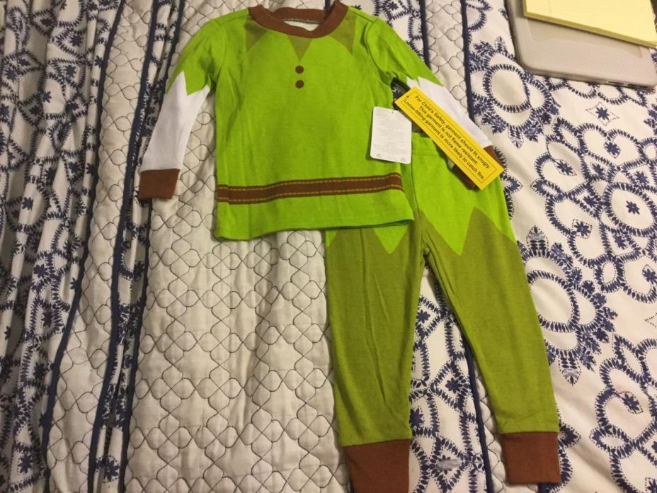 Walt Disney World Disney Store PETER PAN Pajamas PJs Costume Baby 18-24M 2T