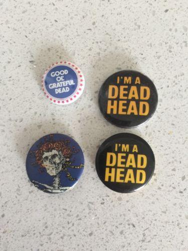 Vintage Grateful Dead Buttons / Pin