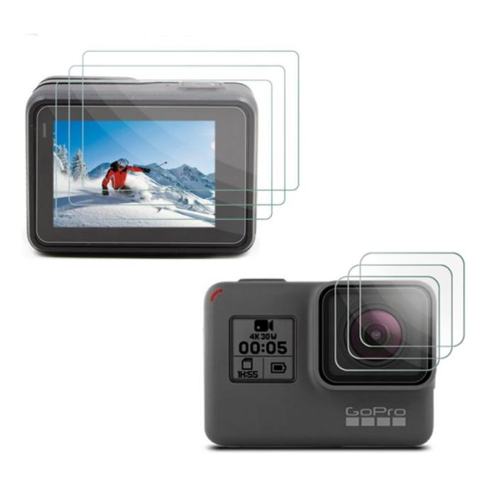 [3pcs] Deyard GoPro Hero 5 LCD Display Screen Protector & Lens Protector Film fo
