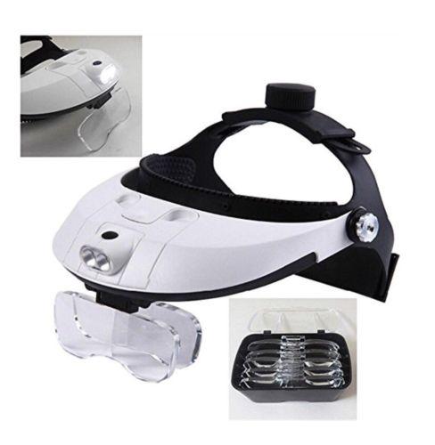 2Led Headband Illuminating Magnifier Mg81001-G