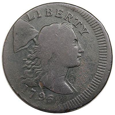 1796 Liberty Cap Large Cent, S-84, R.3, struck 10% off center, VG-F detail