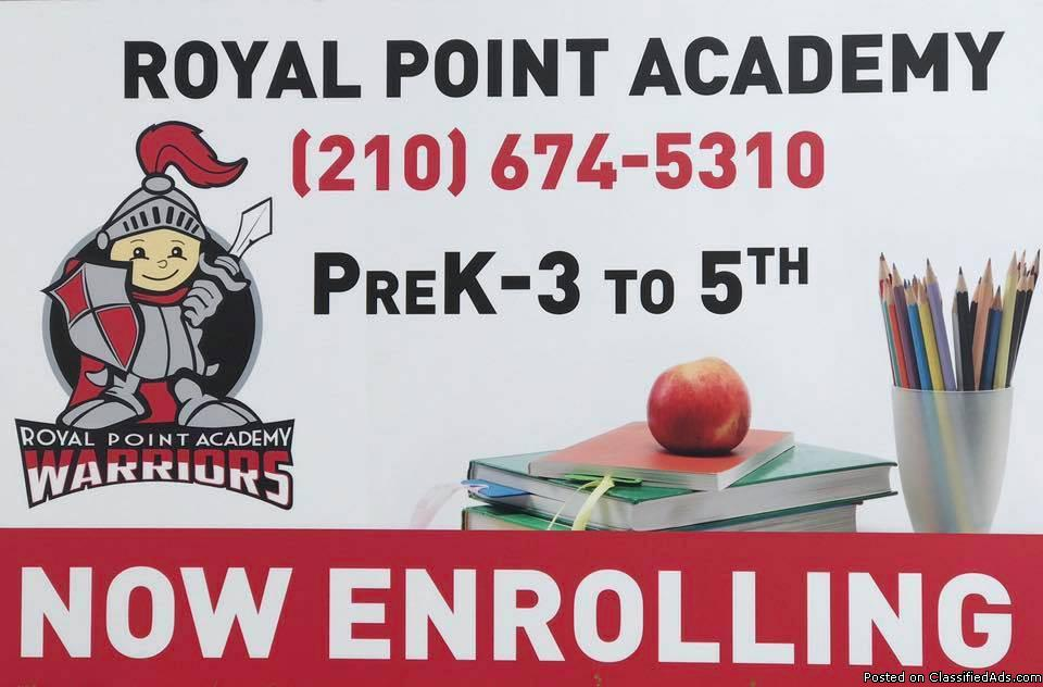 ROYAL POINT ACADEMY CHRISTIAN SCHOOL **PK3-5th Grade**