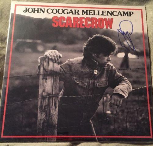 John Mellencamp Signed Scarecrow Vinyl Record Album