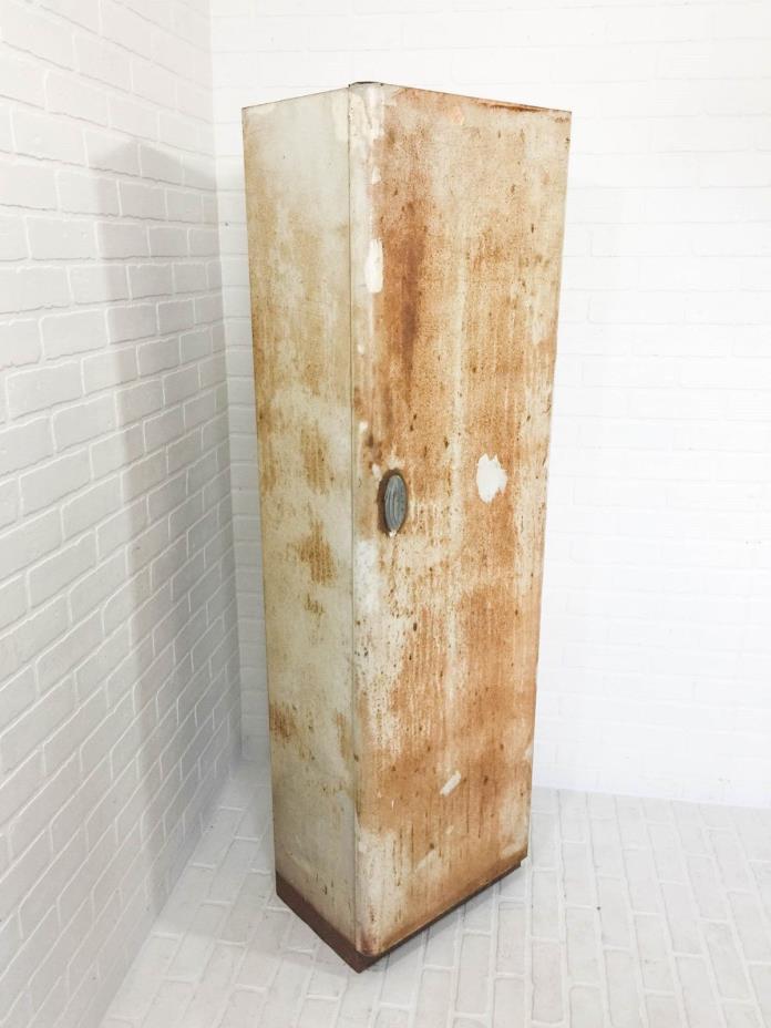 Vintage Mid Century Metal Cabinet Steel Locker Kitchen Pantry Craft Storage with