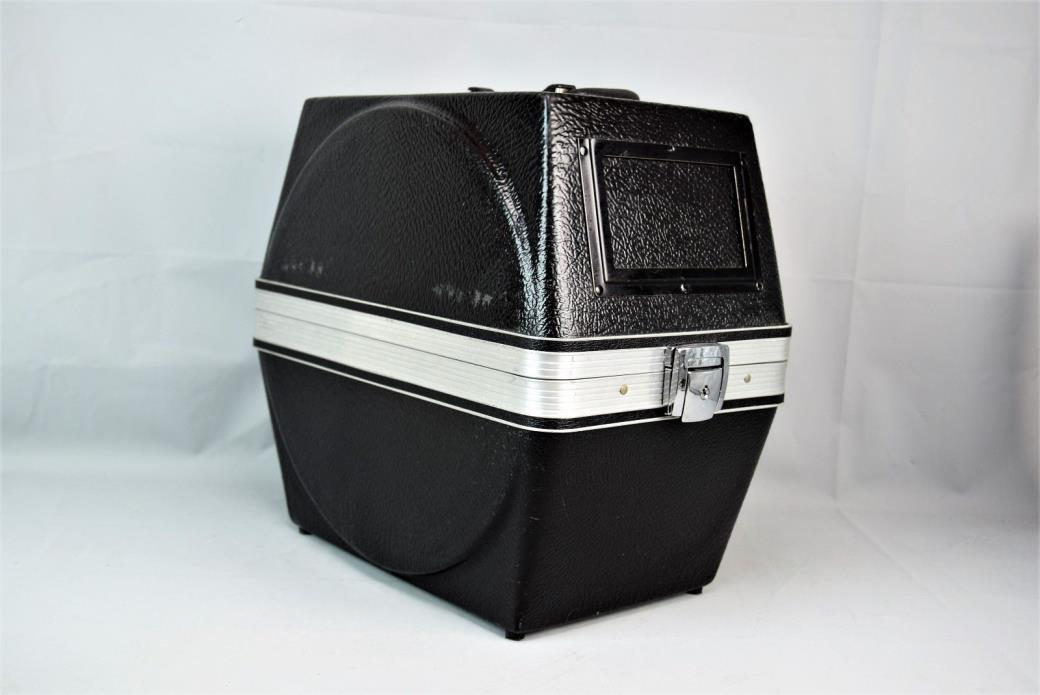 Vintage Movie Film Reel Slides Portable Plastic Carry Case