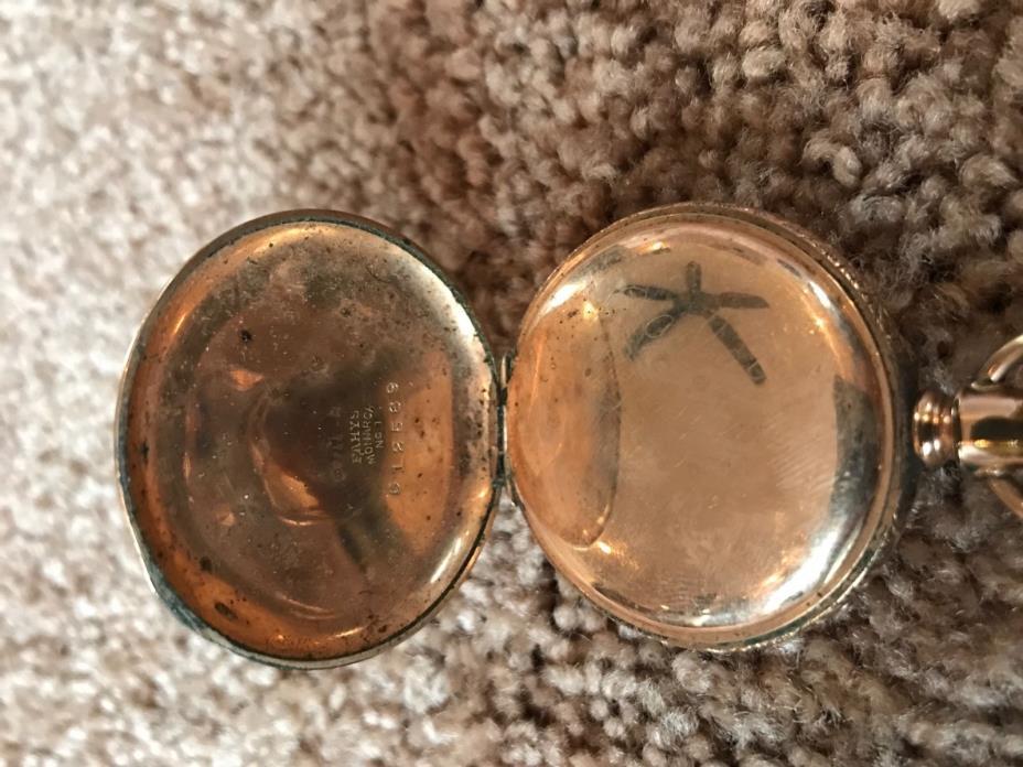 Vintage ELGIN POCKET WATCH FAHYS MONARCH NO.1 CASE 14K Gold Filled