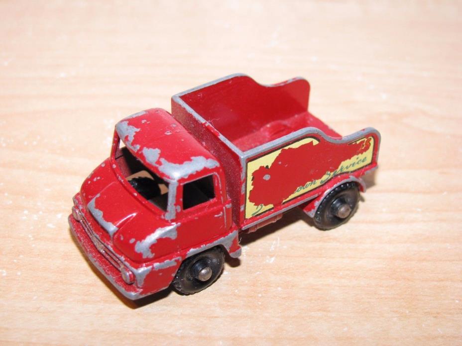 Vintage Matchbox Lesney No.13 Thames Trader Wreck Truck Black Wheels