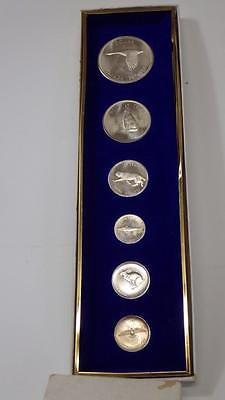 1967 Canada Wildlife Set6 Silver Dollar +Coins Uncirculated Alex Colville Boxed