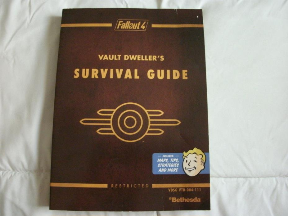 FALLOUT 4 VAULT DWELLERS SURVIVAL GUIDE SOFTCOVER**FREE SHIPPING!