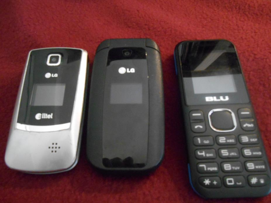 USED CELL PHONE 2 FLIP LG, 1 BLU