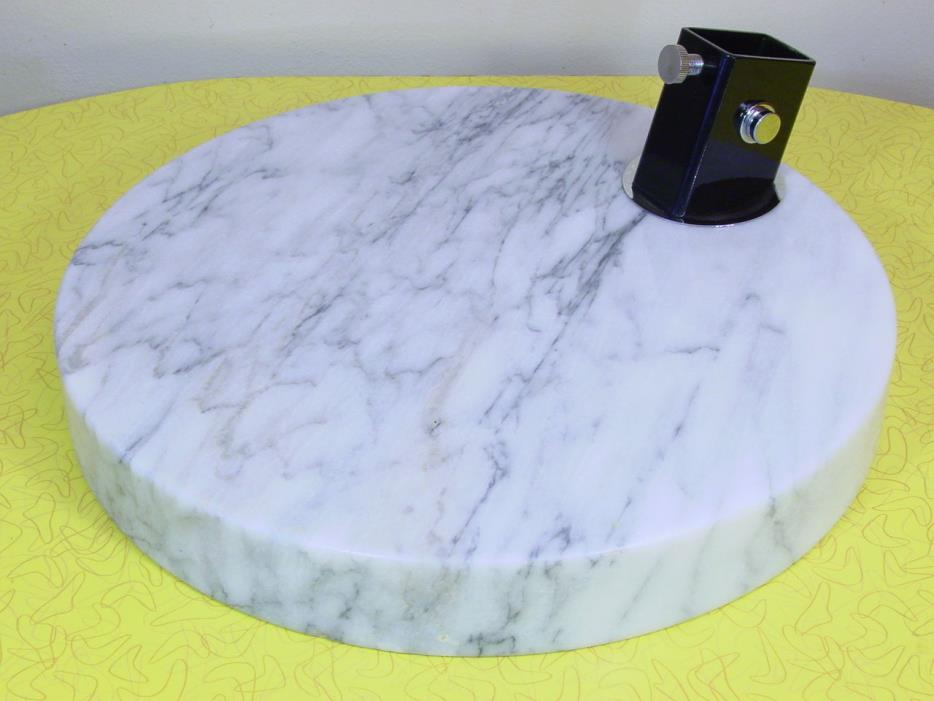 VINTAGE CARRERA MARBLE ARCH/ARC FLOOR LAMP BASE, MADE IN ITALY - EAMES ERA