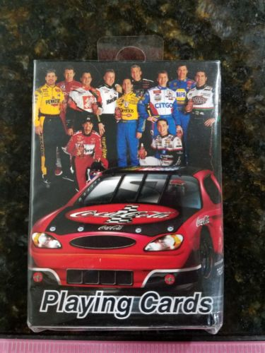 NEW NASCAR/Coca-Cola playing cards featuring the Coca-Cola family of drivers
