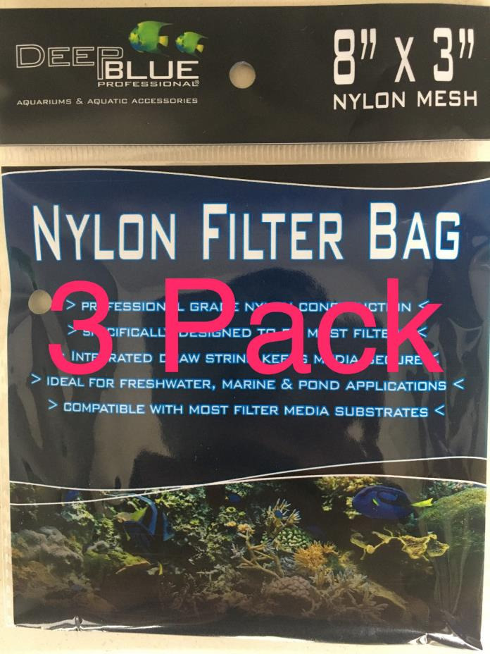 3 Aquarium Filter Media Nylon Mesh Drawstring Bags 8
