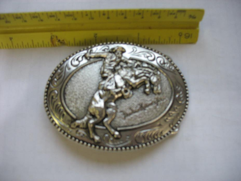The Bronco Buster Fredrick Remington Art Museum Belt Buckle New.