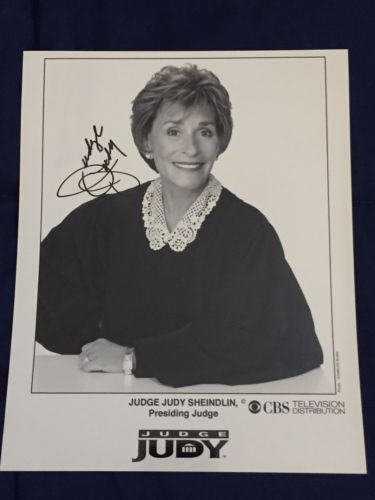Judge Judy Autographed Signed 8x10 Photo