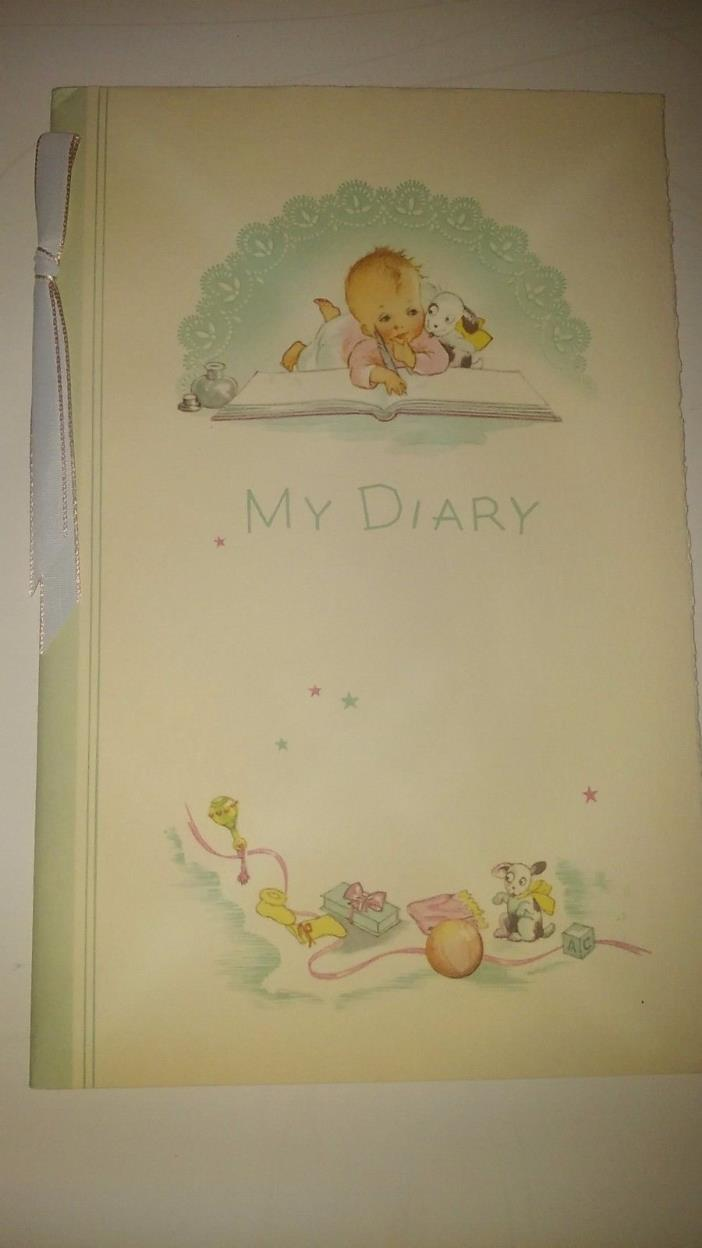 Vintage My Baby Diary from Toledo Hospital NEW, EXCELLENT Condition 1940-50s