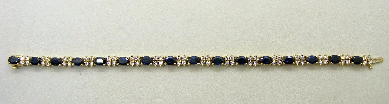 Natural Blue Sapphire Diamond Bracelet