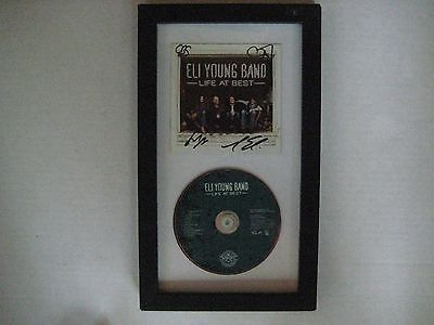 Eli Young Band Life at Best CD and Autographed insert Framed