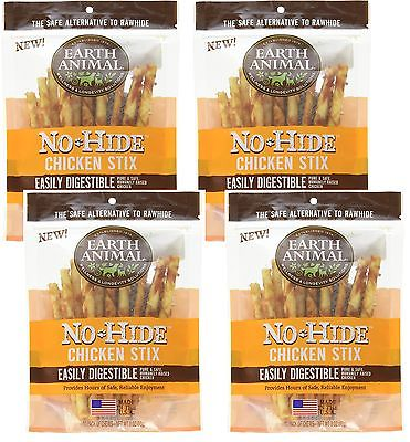 4-Pack Earth Animal No-Hide Chicken Stix