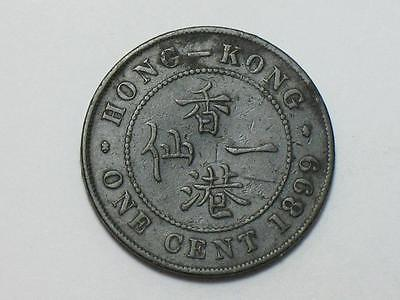 1899 HONG KONG ONE CENT - FOREIGN WORLD COIN - QUEEN VICTORIA