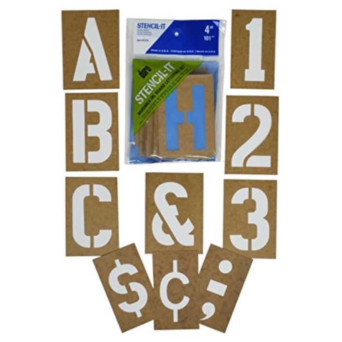 Alphabet Letters Stencils Large 4