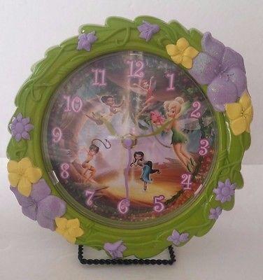 Wall Clock Tinkerbell and Characters Quartz's NOVELTY WALL CLOCK