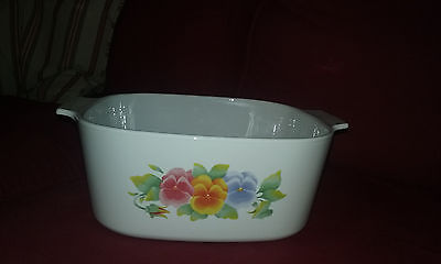 Corningware 96-97 Summer Blush Pansy 5L Casserole Dish  (No Lid)