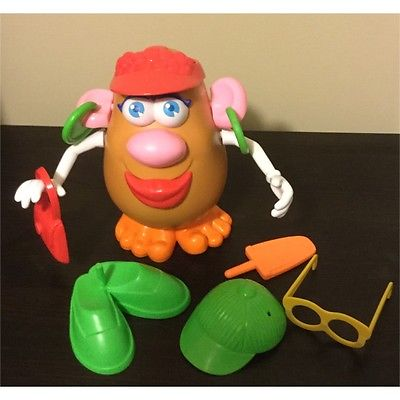 Hasbro Mr Mrs Potato Head Spud Playskool Shoes Cap Lollipop Food Toes Purse Ears