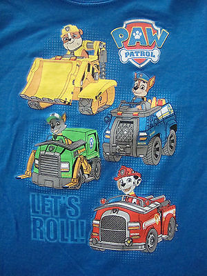 PAW PATROL   NWTS  GRAPHIC TEE SHIRT PUPS WITH TRUCKS!!!