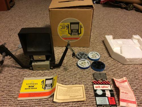 Vintage Vernon 808 Super 8 Film Reel Movie Viewer Film Editor Splicer With Box