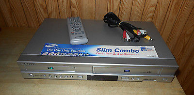 Samsung DVD & VCR Combo DVD Player VHS Recorder with Remote & Cables