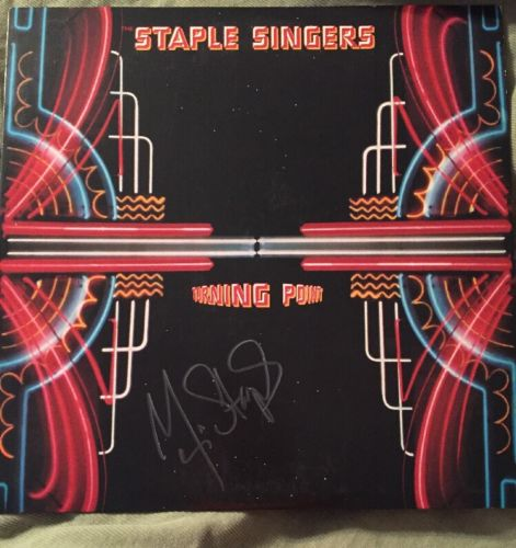 Mavis Staples Signed Record Album Staple Singers Dylan