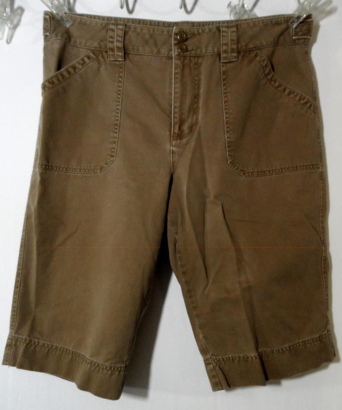 RAFAELLA Denim Shorts 12 Brown Cargo style walking khaki Chino outdoor Sporty