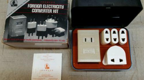 Vintage Franzus Foreign Electricity Converter Kit. 220v-110v