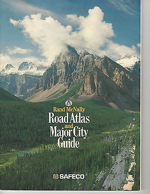 Rand McNally Road Atlas & Major City Guide~Safeco~US, Canada and Mexico~ 1990