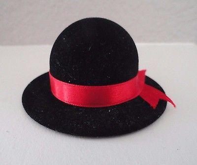 Black Velvet Hat Shape Ring Gift Box