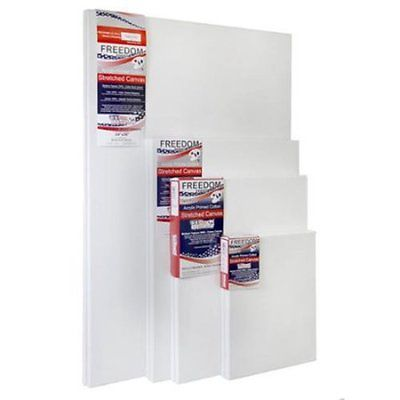 US Art Supply Multi-pack Professional Large 12oz Primed Gesso Stretched Canvas