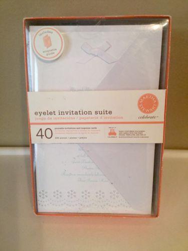 Printable Wedding Invitations White Eyelet 40 Count Response Cards NIB