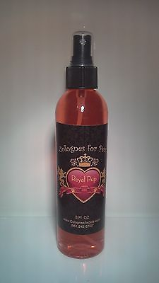 Cologne For Pets Royal Pup Grooming Fur Spray Dog Fragrance High Quality 8oz