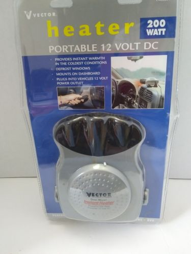 Vector Haloray Portable Heater 12 VDC 200 Watts for Cars Trucks Boats Campers RV