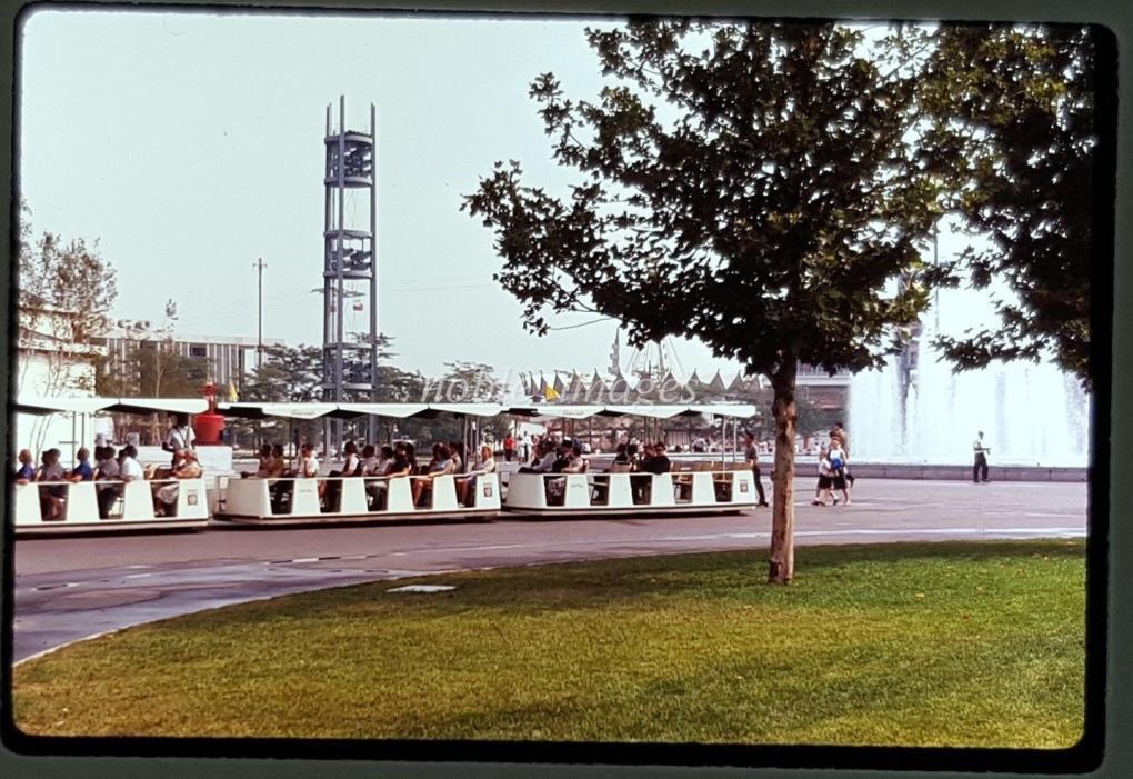 1964 New York Worlds Fair Greyhound Glide-a-Ride Ektachrome Slide