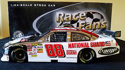 DALE EARNHARDT JR 2008 NATIONAL GUARD GUNMETAL 1/24 SCALE + FREE JR DIECAST CAR