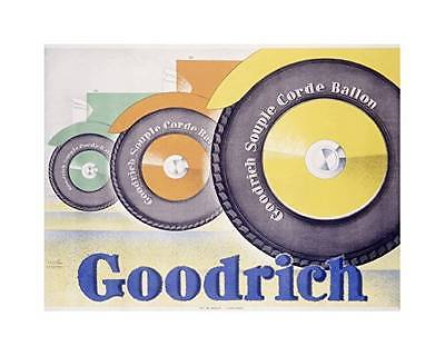 Goodrich Automobile Tire Vintage Poster on Canvas
