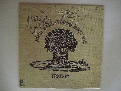 Traffic John Barleycorn Must Die LP Album Autographed