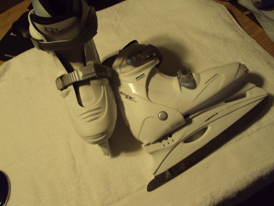 Lake Placid Glider 500 Microfit Adjustable Girls Ice Skates US Skate Size 2 3 4