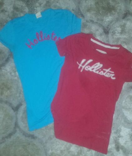 Two (2) Hollister T-shirts size SMALL womens